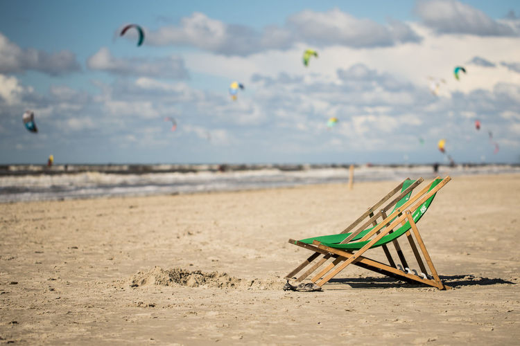 some empty seats at the beach Empty Chair German Sankt Peter-Ording Schleswig-Holstein Strand Absence Beach Beach Chairs Chair Day Empty Seats Focus On Foreground Land Nature No People Nordseeküste Northsea Outdoors Sand Scenics - Nature Sea Seat Sky Sunlight Tranquility EyeEmNewHere