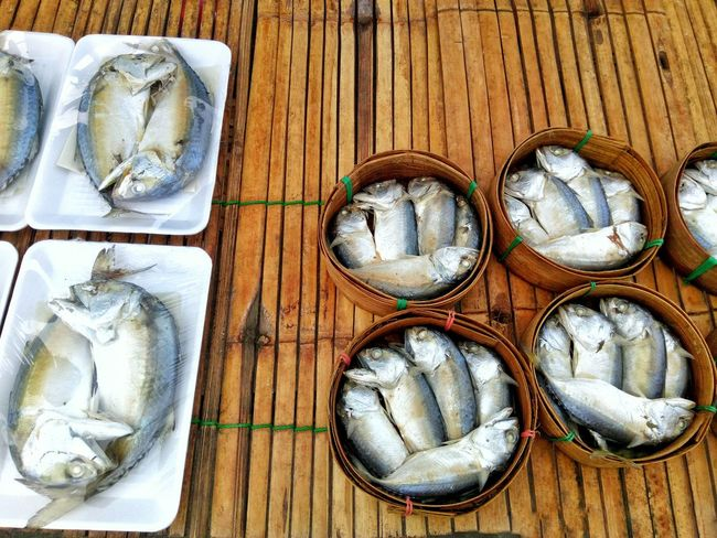 Backgrounds Steamed Fish Package Mackerel Fish Seafood Outdoors Food Market No People Day For Sale Textured  For Sale