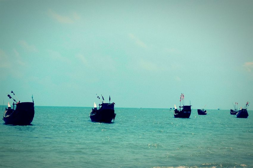 Sea Water Nature Horizon Over Water Beach No People Day Beauty In Nature Outdoors Beauty Nautical Vessel Sky Wave UnderSea Mammal Beauty In Nature Bangladesh Scenics Travel Destinations Gondola - Traditional Boat The Great Outdoors - 2017 EyeEm Awards Transportation Bay Of Bengal Saintmartinisland Out Of The Box