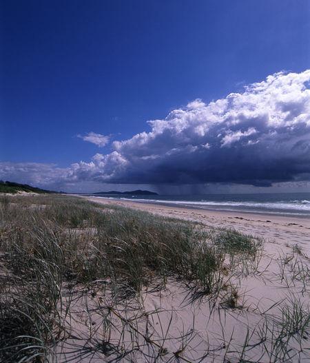 a rain cloud heading towards the beach Beach Blueclouds Cloud Coastline Distance Down Pour Downpour Dunes Grass Rain Rainy Sand Sea Storm Sun Sun Shower Sunny Sunshine Sunshower