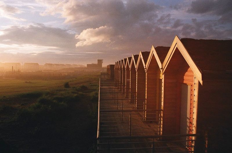 The Places I've Been Today Blyth Beach Hut 35mm Film Landscape