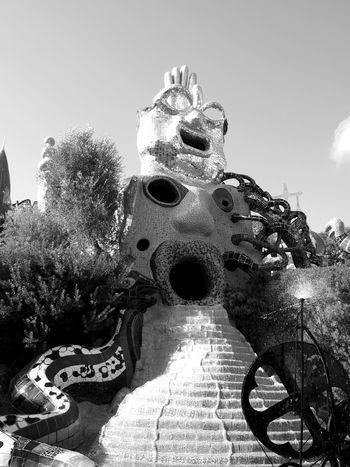 Architecture Artworks Blackandwhite Built Structure Capalbio Giardinodeitarocchi Italy NikideSaintPhalle No People Sculptures Tuscany Place Of Heart Your Ticket To Europe