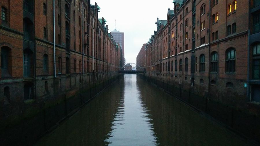 Speicherstadt. · Hamburg Germany Hh 040 Hamburgmeineperle UNESCO World Heritage Site Hafencity Architecture Warehouses Water Commerce Trade Hanse Hanseatic Channel Canal Elbe Elbe River Classic Landmark Tourism Tourist Attraction  Clouds And Sky