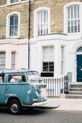 Building Exterior Architecture City Outdoors Vintage Car Volkswagen Vintage Van Notting Hill London