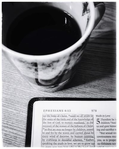 Bible Bible Study, Christian, Faith, Religion, Gospel, Born Again, Salvation, Spirituality, Holy, Home, Devotional, Young, Girl, Lady, Woman, Mother, African American, Committed, KJV, KJB, Discipleship, Believer Christian Drink Tea - Hot Drink Table Teabag Coffee Cup Coffee - Drink Close-up Food And Drink Black Tea Tea Coffee Overhead View Beverage Herbal Tea Black Coffee Tea Cup Hot Drink Non-alcoholic Beverage