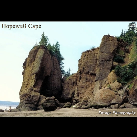 Hopewell Rocks Landscape Bayoffundy Hopewell Cape is located along the fundy coast and is home to the highest tides in the world. I snapped this image with a Pentax 105. Image taken by Rick Savage 1995
