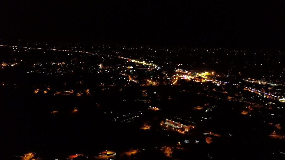 Royal Town in Arau, Perlis at night view from above Illuminated Arts Culture And Entertainment Airplane Sea Awe Power In Nature Entertainment