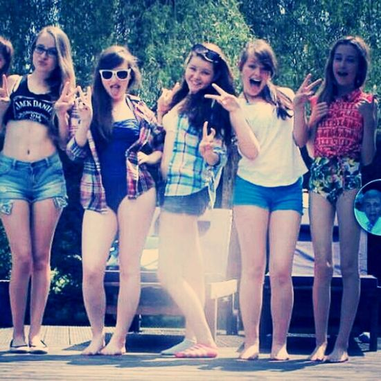 me with my best friends. so hot outside! Summer 2013