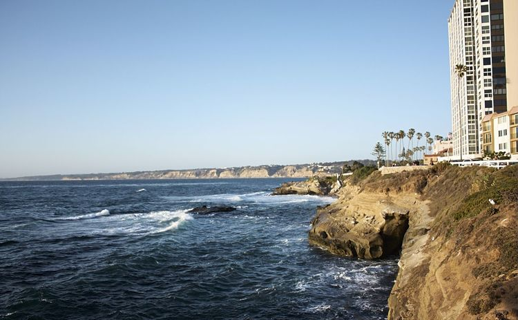 A wonderful day in La Jolla Cove Beauty In Nature California California Coast California USA Clear Sky Cliff Coast Coastline La Jolla La Jolla Cove La Jolla, California Ocean Pacific Ocean Scenics Sea Tourism Tranquil Scene Travel Destinations Water Wave Live For The Story