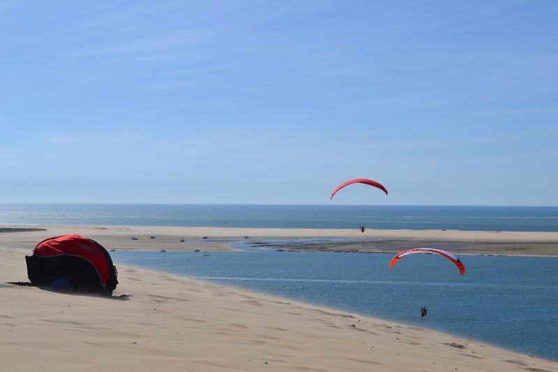 France🇫🇷 Dune Du Pyla La Teste-de-Buch Frankreich Sand Beach Beauty In Nature Outdoors Paragliding Gleitschirm First Eyeem Photo