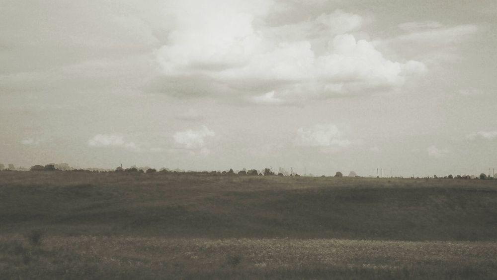 В окрестностях Суздаля. пейзаж небо Landscape Sky