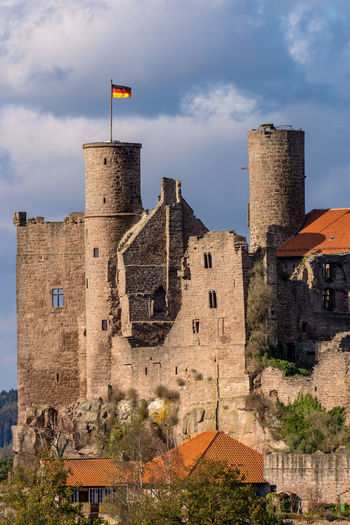 Burgruine Hanstein No People Rimbach Burg Germany Thuringia Castle Walls Wall Cloud - Sky Travel Destinations Outdoors Old Fortified Wall Flag Castle The Past Building History Built Structure Building Exterior Architecture Castle Hanstein Burgruine Hanstein Hanstein Ritterburg