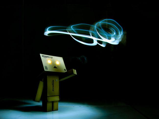 Black Background Danbo Illuminated Lightpainting Lowkey  Penlight Slowshutter Toy Toyphotography Yotsuba