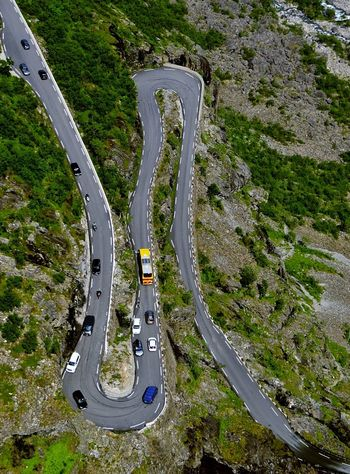 Aerial View Architecture Bends Curve Day Enjoying Life Epic Shot Photography Eye4photography  EyeEm Gallery High Angle View Nature Outdoors Planet Earth Road Roads Roadtrip Scenics Sky Travel Destinations Travel Photography TripAdvisor Trollstigen Turns Winding Road