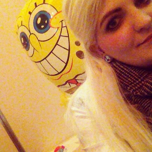 New Co-Worker ;) Me Girl Balloon Blonde Spongebob Igers