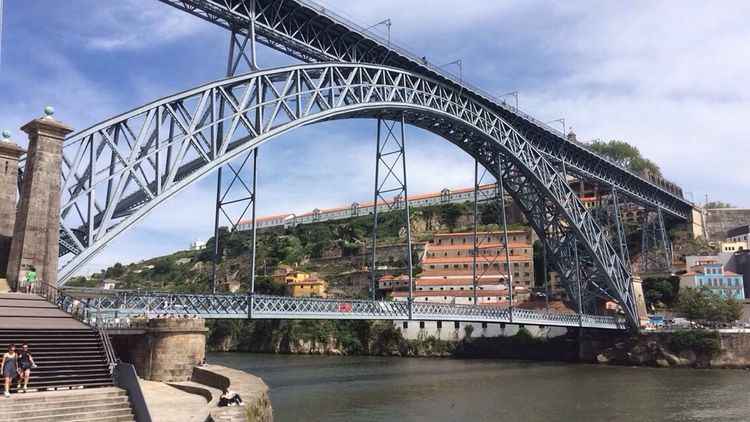 Underthebridge Porto Bridge Iron City Life River Portugal CF