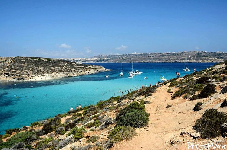 • Blue lagon, Malta • Malta Hollidays Friends Blue Wave Sea Blue Sea Blue Sky Lanscape Photography Blue Landscape Blue Spring Vibes Springtime