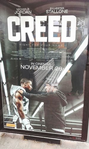 WhiteText Text Western Script Taking Photos Check This Out FightForYourName Signboard MichaelBJordan Illuminated MOVIE Creed  Sylvester Stallone Sylvesterstallone Michael B Jordan  Stallone Movie Poster Movieposter Fight For Your Name Poster Illuminated Signs Cinema Poster Action Movies At The Flicks Cinema Posters Movie Posters SignHunters Sign Hunters Illuminatedsigns Actionmovies Action Movie