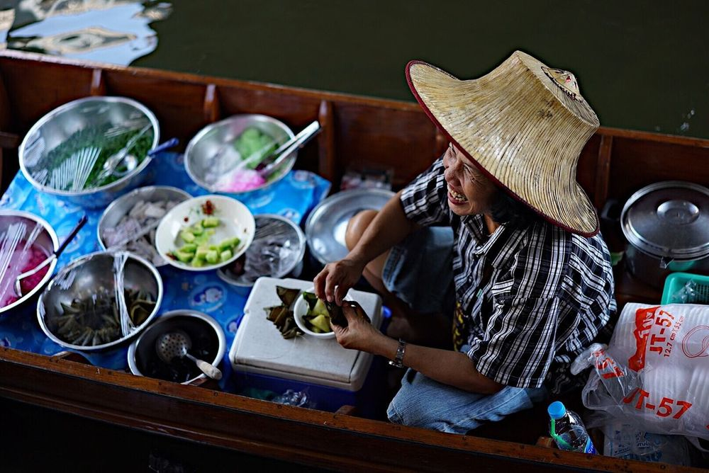 Adult Adults Only Bowl Casual Clothing Day Food Healthy Eating Indoors  Market One Person People Plate Real People Sitting Streetfood Streetfood Worldwide Table Thailand Travel Destinations Travel Photography Young Adult