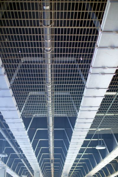 Architecture Backgrounds Building Built Structure Close-up Day Full Frame Grid Low Angle View Metal Metal Construction No People Pattern Repetition