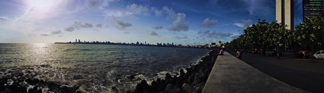 Mumbai Mumbailife Narimanpoint Ocean Perspective Scenics Sea Serenity Sky Skyline