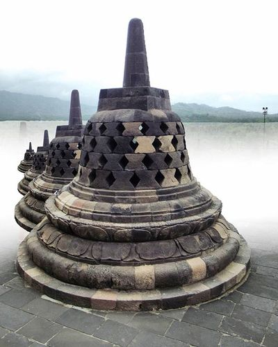 Borobudur Stupas In Different Imajination Kyk Di awan :v
