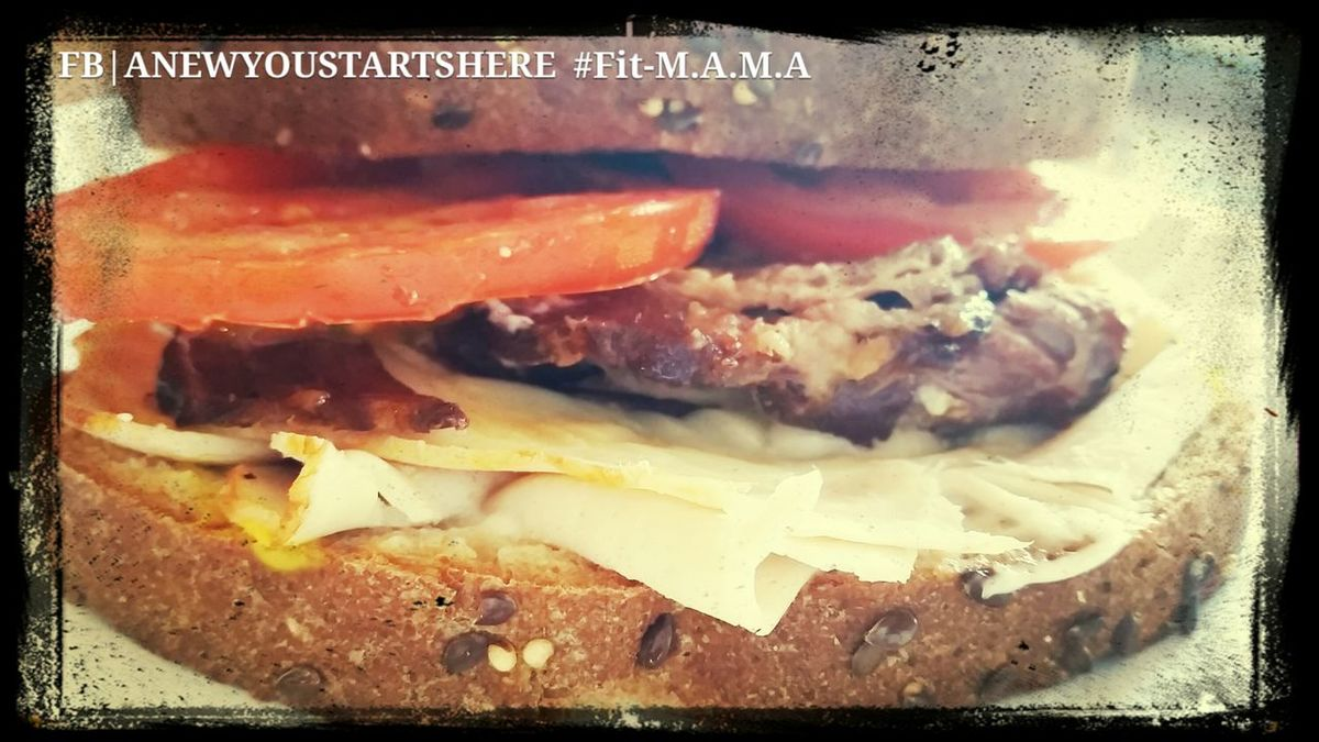 Smoked Brisket and Turkey Sandwich Topped with provolone cheese and tomatoes, served on 15 whole grain bread www.facebook.com/anewyoustartshere
