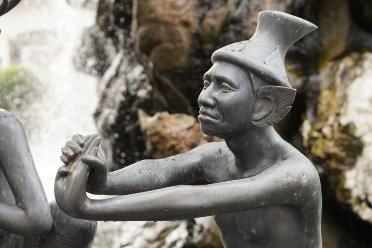 Statue Sculpture No People Water Outdoors Nature Hermit ฤษี Wat Pho Bangkok Thailand. Architecture Travel Destinations