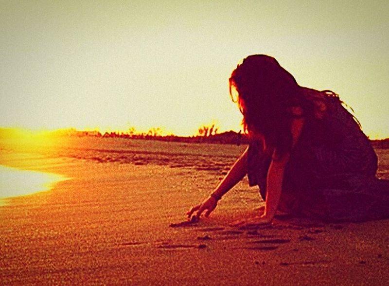 Sun Sand Beach Sad 😶💜