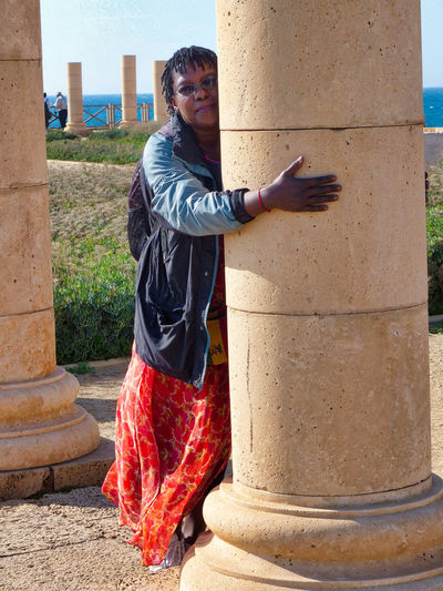 Caesarea's Antiquities Park Adult Architecture Building Exterior Built Structure Caesarea Day Full Length Girls Israel Looking At Camera One Person Outdoors People Portrait Real People