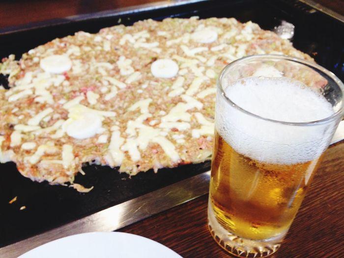 月島 ! ビール ! もんじゃ !