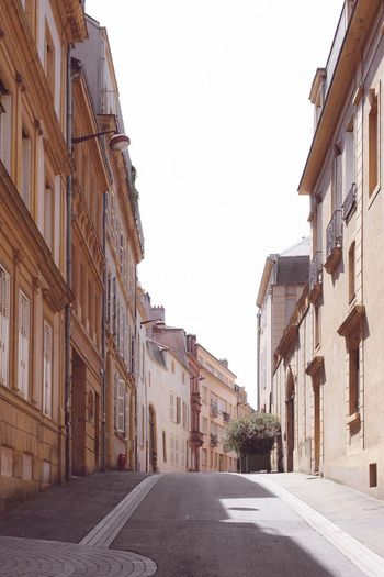 Building Exterior Street Architecture Road The Way Forward Built Structure House City Residential Building Outdoors No People Day Sky Metz Metz, France