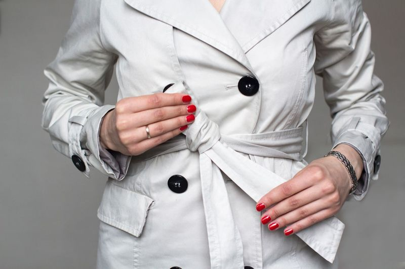 Trench Coat Casual Clothing Outfit Dresscode  Classy Business Woman Business Beige Fashion Photography Trenchcoat Red Nails Midsection Hand Watch Human Hand Warm Clothing Front View Close-up Wristwatch Fashion Indoors  Clothing Red Jewelry The Fashion Photographer - 2018 EyeEm Awards