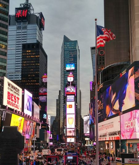 Time's Square New York New York City Times Square NYC City Neon Modern Urban Skyline Illuminated Skyscraper Multi Colored Cityscape Nightlife Arts Culture And Entertainment Billboard Times Square - Manhattan Banner - Sign Broadway - Manhattan City Street Store Sign Commercial Sign