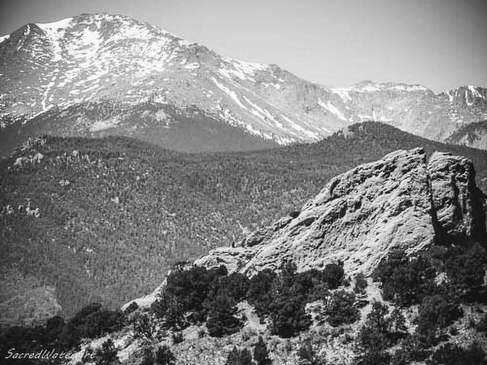 Black and white, Colorado Mountains Mountain Snow Mountain Range Snowcapped Mountain Mountain Peak Nature Scenics Outdoors Landscape No People Beauty In Nature Winter Sky Day Blackandwhite Photography