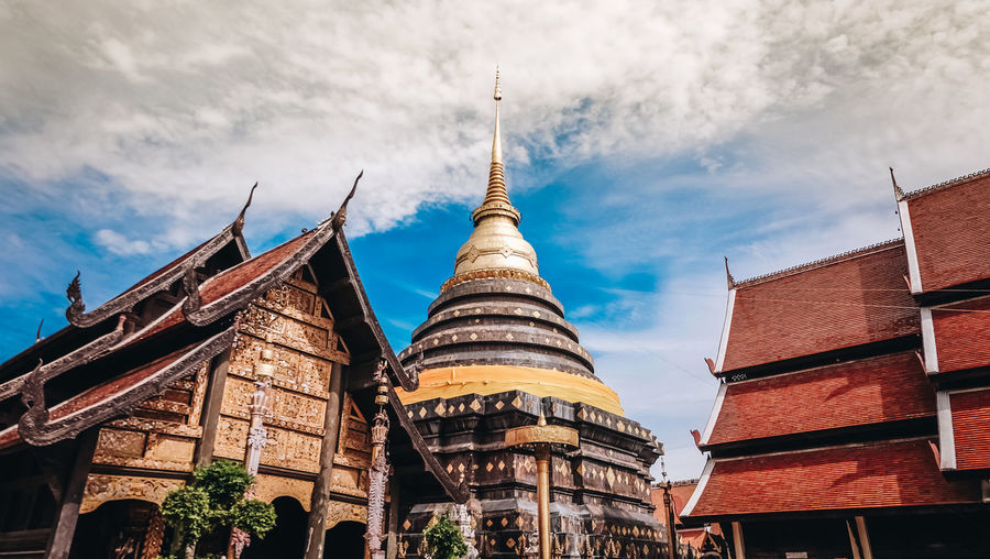 Lampang Lampang Thailand Thailand Architecture Belief Building Building Exterior Built Structure Cloud - Sky Day History Lampang Temple No People Outdoors Religion Sky Travel Destinations