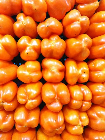 Morron naranja Freshness Food Healthy Eating Full Frame Chile Close-up Comestible Art by OEVR