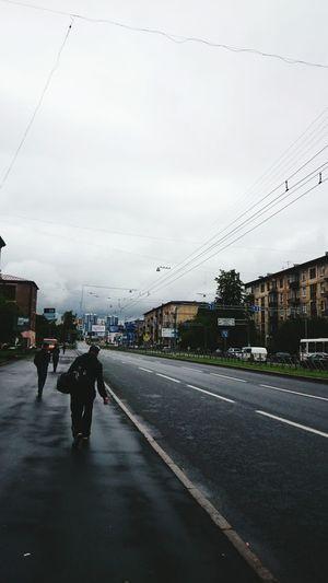 Street Sammer Streetphotography Sky Saint Petersburg City Morning Rain Lovely City Лето2015 дорога на работу.