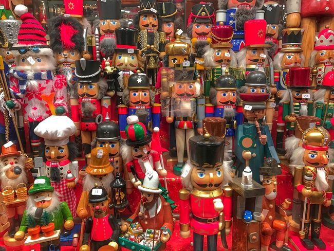 Large Group Of Objects Multi Colored Close-up Variation Tradition Christmas Christmas Market Christmas Decoration Nutcrackers Nutcrackersoldier Nutcracker