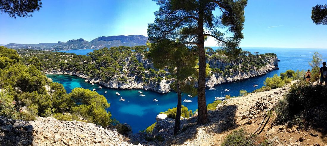 Cassis👌🏼☀️ Calanques  Landscape Sea And Sky Blue Sky Landscape_Collection Panorama Panoramic Photography Panoramic View Colorful Landscape_photography Nature Natural Beauty Blue Freedom Wild Nature_collection Nature Photography Holiday Summer Panoramic