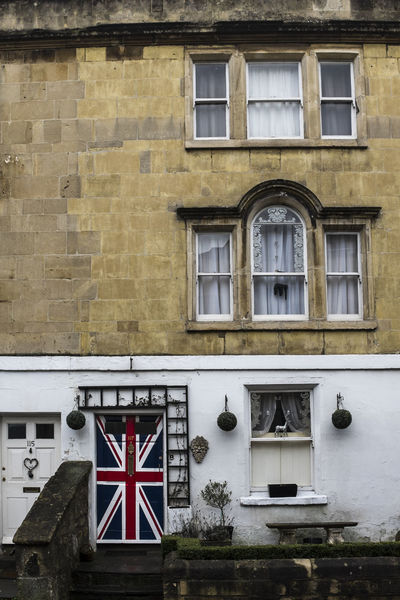 Architecture Backgrounds Building Exterior Built Structure Decoration Flame Front Door Geology Great Britain Jingga Patriotism Pride Sand Uk Union Flag Window X100S