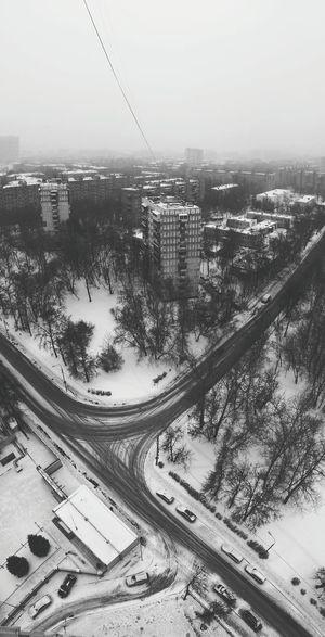 Panorama Moscow Blackandwhite Landscape
