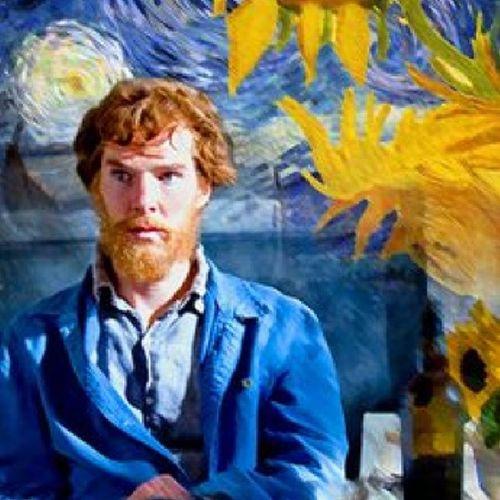 Benedict Benedictcumberbatch BBC Paintedwithwords vangogh sherlock ♡