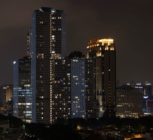 Architecture Illuminated Built Structure Architecture Building Exterior City Night Building Tall - High Office Building Exterior Sky Cityscape Skyscraper Modern Office No People Residential District Nature Landscape Outdoors Urban Skyline