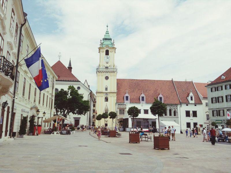 Calm and lovely square in Bratislava Bratislava, Slovakia square street travel people enjoy love peace summer
