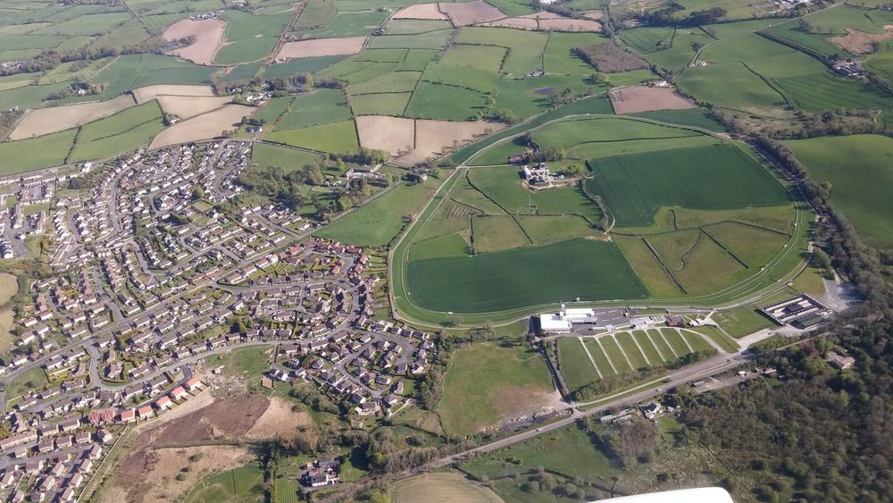 Aerial View Community County Down Culture Down Royal Lisburn Maze Elevated View High Angle View Horse Horse Racing Human Settlement Northern Ireland Racecourse Residential District