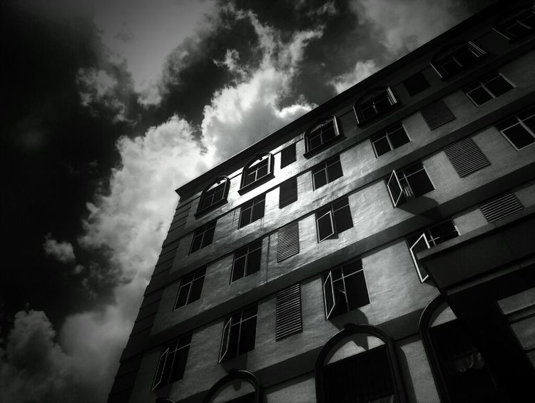 Noir Black And White Building Andrography Fotodroids Omof