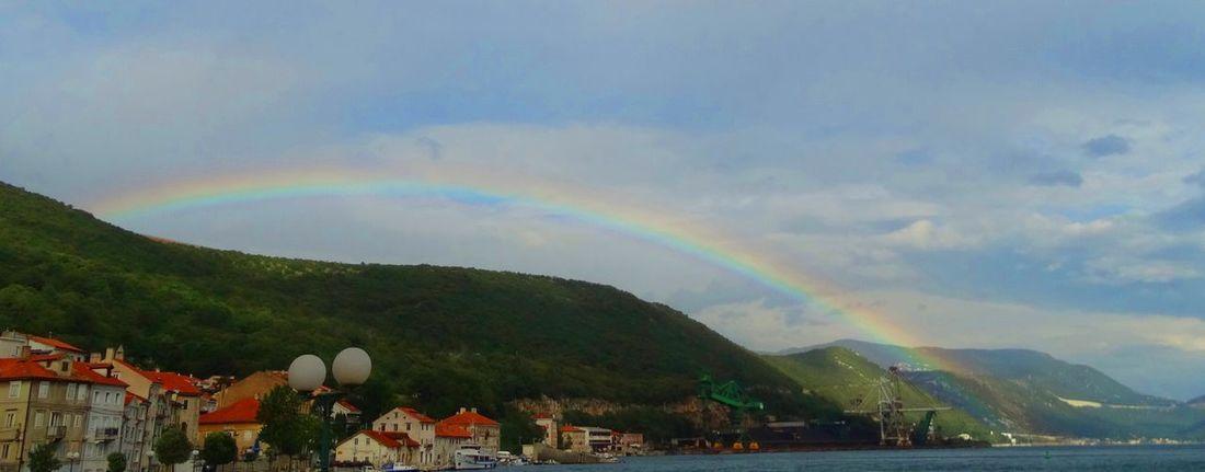 EyeEmNewHere Beauty In Nature Day Double Rainbow Nature Rainbow Sea And Sky Sea4life Sky