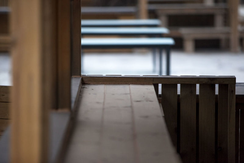 Absence Bench Cafeteria Chair Empty Glass - Material Indoors  Leading Nami Island Narrow Order Park Railing Restaurant Selective Focus Shadow Staircase Steps Table The Way Forward Wall Window Wood Wood - Material Wooden