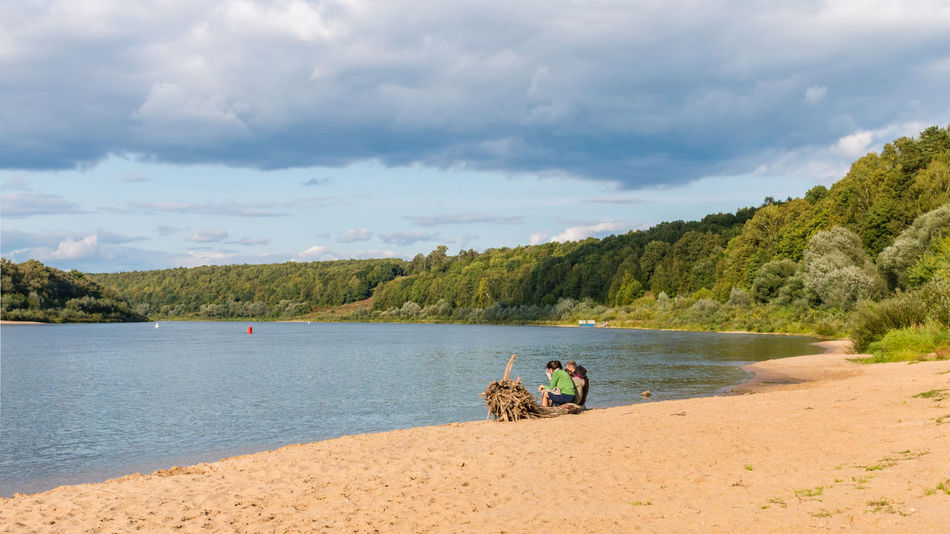 Rest on the Oka river, Russia, Polenovo Russia Russia. Polenovo Tula Oblast Beach Beauty In Nature Cloud - Sky Clouds Day Nature Oka Outdoors Polenovo Real People River Riverbank Sand Scenics Sky Strakhovo Tranquil Scene Tranquility Tree Water